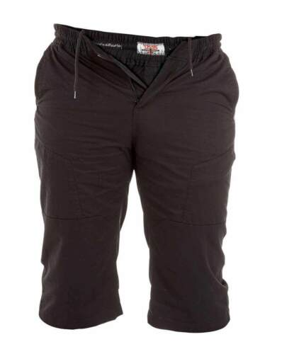MENS KING SIZE BRANDED DUKE SHORTS IN BLACK /& KHAKI COLOURS ALL SIZES 2XL-6XL