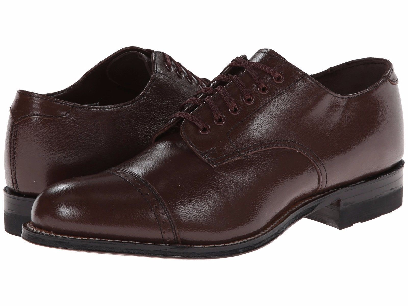 Stacy Adams Uomo Brown Madison Cap Toe Toe Toe Dress Formal Oxford Wide Medium Shoe 00fe78