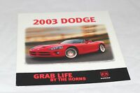 2003 Dodge Cars Original Car Sales Brochure