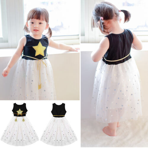 Baby Kids Lace Party Princess Wedding Pageant Tutu Sleeveless Sundress Ball Gown