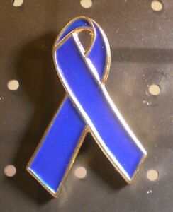 Lapel Pin Blue Colon Cancer Awareness Ebay