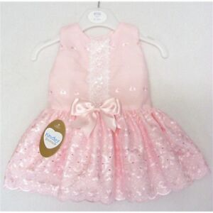 bcd05c7d65fa Image is loading KINDER-BOUTIQUE-LACE-BRODERIE-ANGLAISE-PINK-SATIN-BOW-