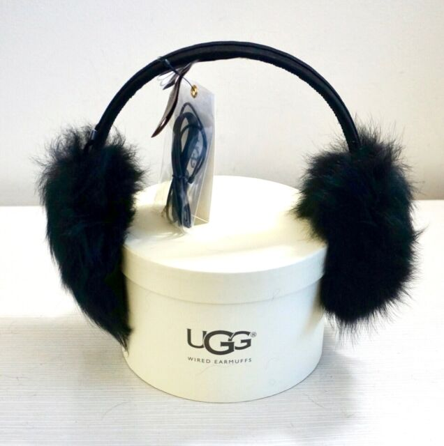 156d60ff110 NWT $85 UGG Australia Suede Toscana Shearling Tech Wired Earmuffs, Black,  U1963