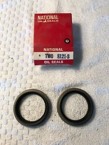 2-NOS-National-8121S-Front-Wheel-Seals-62-63-64-65-66-67-68-Dodge-Car-Charger
