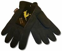 Heatlok Deerskin Leather Palm Winter Gloves, Polar Fleece Lining Size Xxs To Xxl