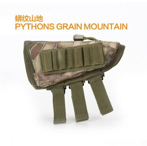 Tactical Hunting Rifle Shotgun ButtStock Ammo Shell Mag Pouch Holder Bullets Bag