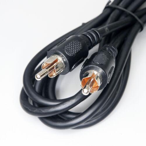 1 Meter M koaxial Kabel Chinch Stecker beidseitig Audio Video neu schwarz