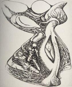 Copieux FranÇois Bealu (1932- 1971 Bretagne) Estampe 1970 Surréalisme Curiosa Nu PréVenir Le Grisonnement Des Cheveux Et Aider à Conserver Le Teint