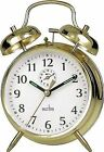 Acctim Saxon Wind up 16cm Double Bell Alarm Clock Gold 12628
