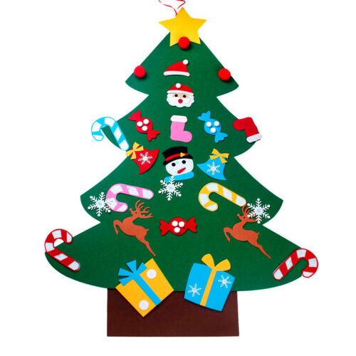 Calendario de Adviento Navidad Fieltro paneles de panel de tela para niñas niños rellene su propio