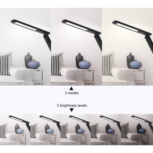 9W LED Schreibtischlampe dimmbar Lampe mit USB-Ladeanschluss für Handy Aufladen