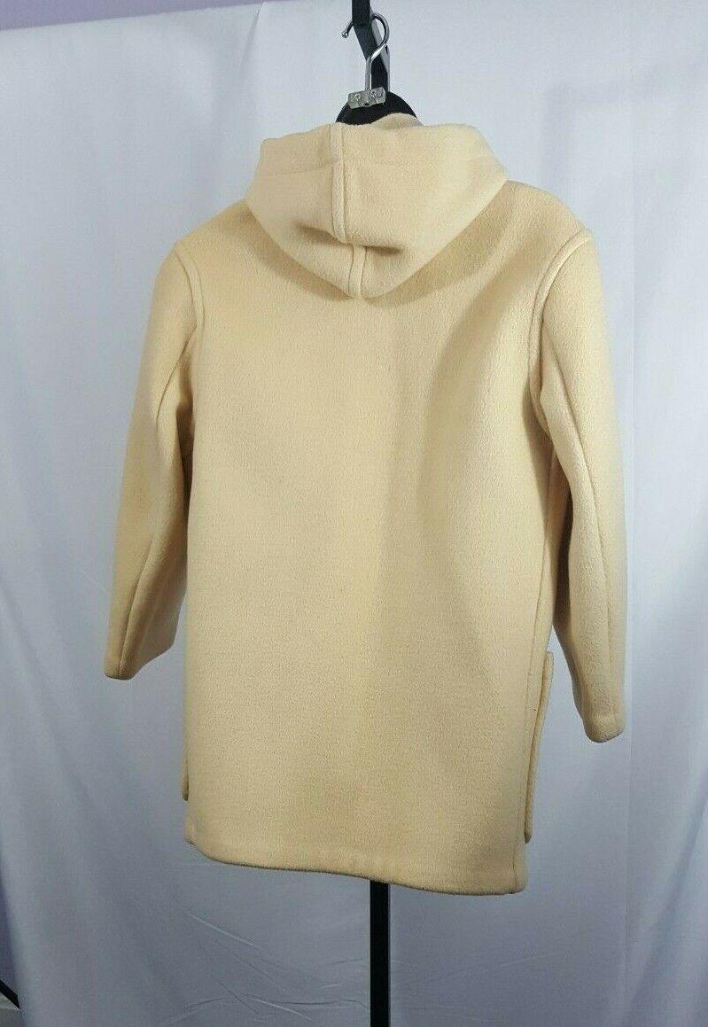 Gloverall Duffel Coat USA Size 12 Cream Wool Hoo… - image 2