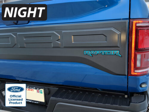2019 FORD RAPTOR REAR EMBLEM REFLECTIVE OVERLAY DECAL VINYL GRAPHICS STICKERS