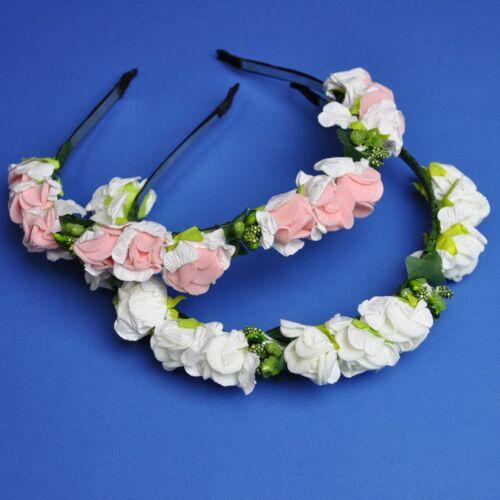 Capelli maturi fiori Corona fiori rose per capelli gioielli frontale nastro capelli maturi Fiore Hippie