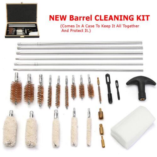 Gun Cleaning Kit Air Rifle Barrel Shotgun Pistol 12g 20g Wood Case Mop   Gift