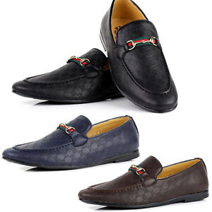 NEW-Mens-Slip-On-Designer-Smart-Faux-Leather-Loafers-Casual-Driving-Shoes-Size
