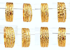 Golden-Bangles-Ethnic-Indian-Bridal-Jewelry-Party-Wear-Fashion-Bracelet-Set-2-14