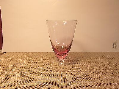 "Vintage Tiffin Crystal Wistaria Pink 17 477  Pattern Iced Tea Goblet 5 7/8"""