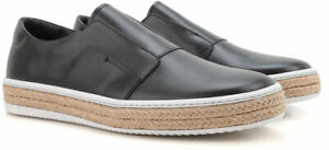 Prada-men-039-s-slip-on-sneakers-in-black-leather-with-rope-pattern