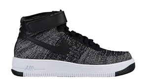 new style ba268 53f28 Image is loading Nike-Air-Force-1-Ultra-Flyknit-BLACK-WHITE-