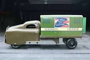 Banner-Toys-Military-Green-U-S-Air-Mail-Delivery-Truck-pressed-steel-USA