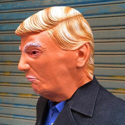 Donald Trump Halloween Latex Mask Most Realistic Cosplay Full-head Adult Mask T7