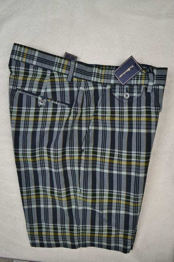 Ralph Lauren Men Navy bluee Cotton Madras Plaid Shorts NWT