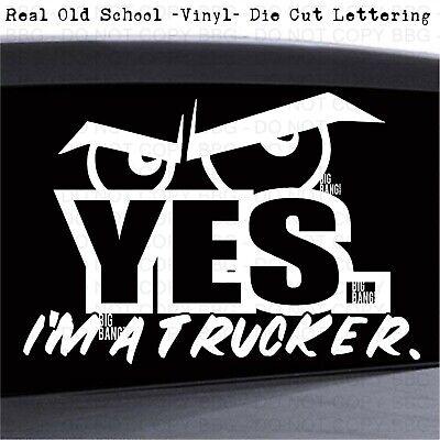Trucker Decal Sticker Vinyl Big Rig Driver Professional Badass Semi 18 Wheeler Ebay