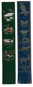 2 x ANIMAL leather bookmarks  VGC WATERFOWL and WILDLIFE OF WALES - <span itemprop=availableAtOrFrom>Marlborough, Wiltshire, United Kingdom</span> - 2 x ANIMAL leather bookmarks  VGC WATERFOWL and WILDLIFE OF WALES - Marlborough, Wiltshire, United Kingdom