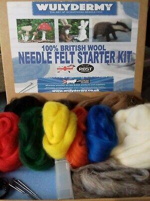 Needle felting Kit ratones Británico Lana Sin Caja