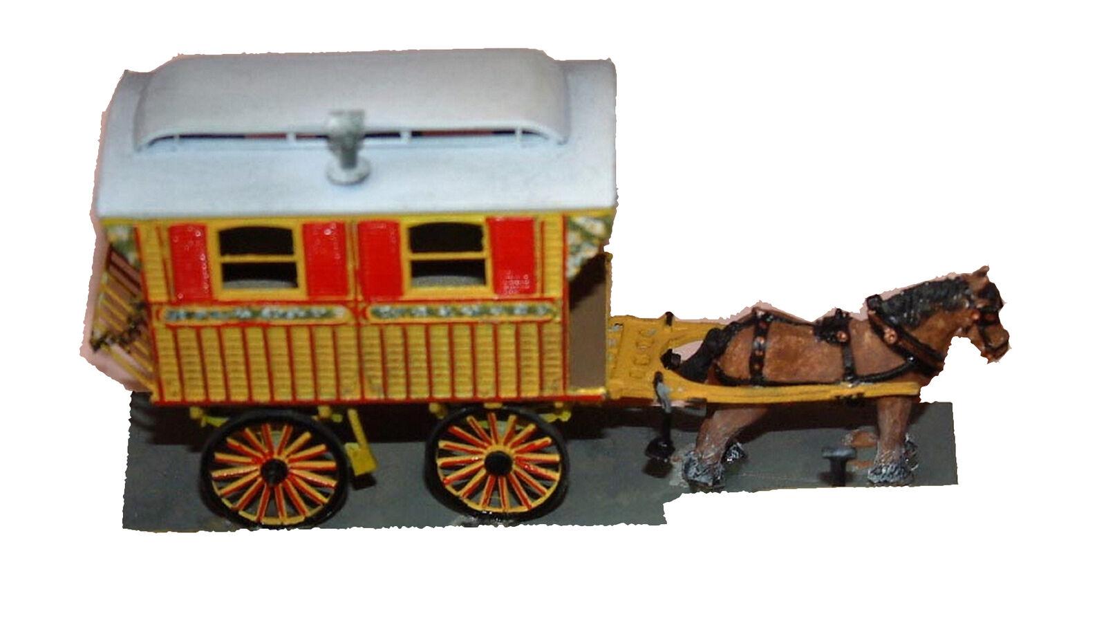 Burton Horse drawn Living Van OO Scale 1 76 UNPAINTED Kit Q41 Langley modellos