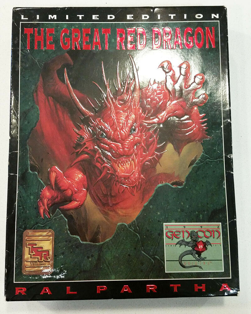 Ral Partha 01-503 Great Red Dragon Gen Con LE D&D Dungeons Dragons Miniature