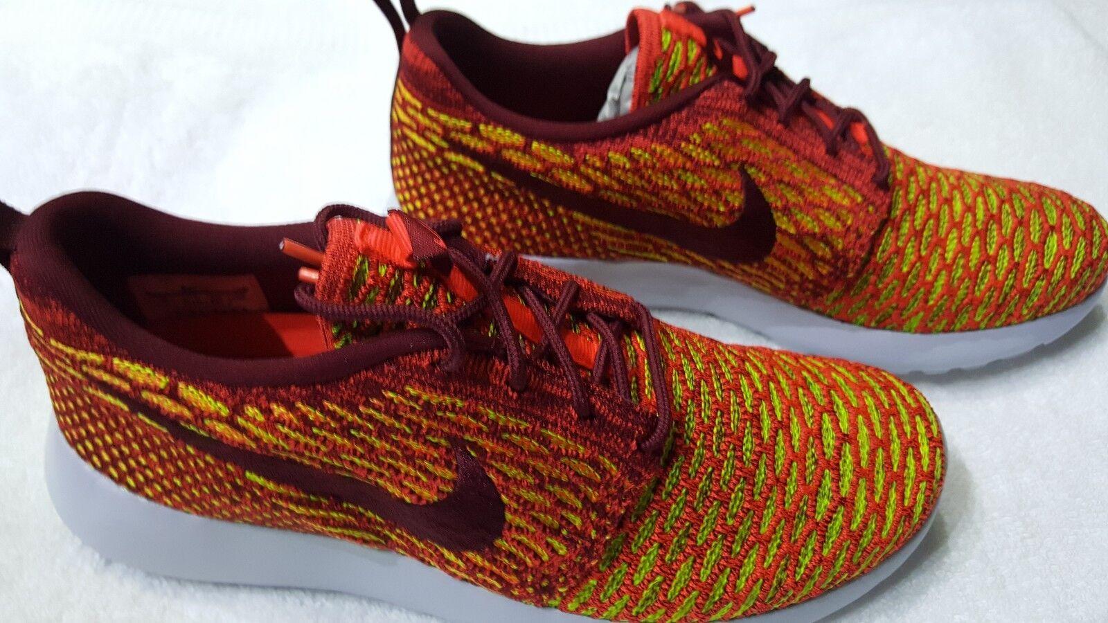 Women's Nike Roshe one Flyknit crimson red size 8