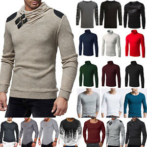 Winter-Mens-Slim-Fit-Muscle-T-shirt-Casual-Tops-Blouse-Basic-Long-Sleeve-Shirts