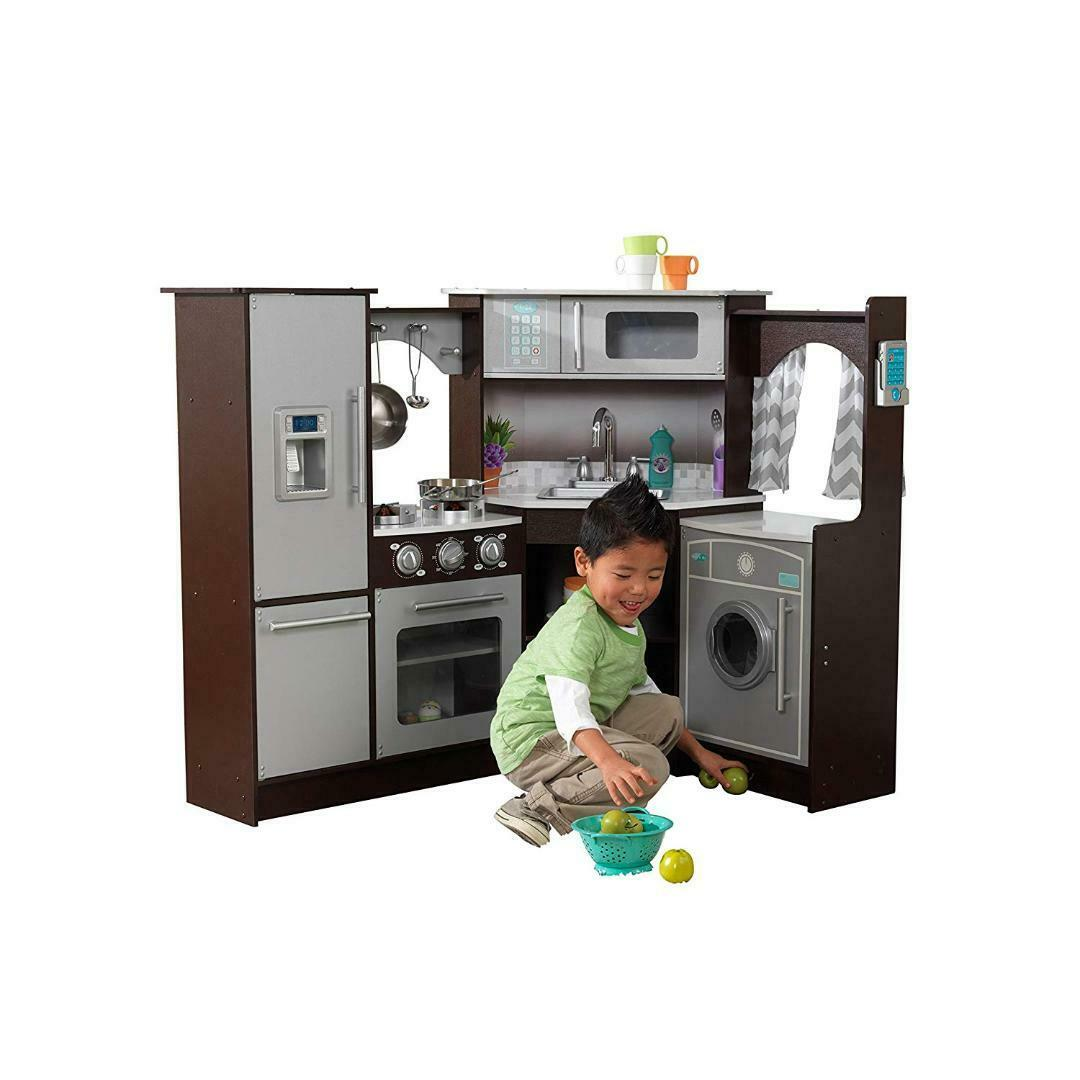 Kidkraft究極のコーナー再生ライト&サウンドとキッチンをふり-エスプレッソ