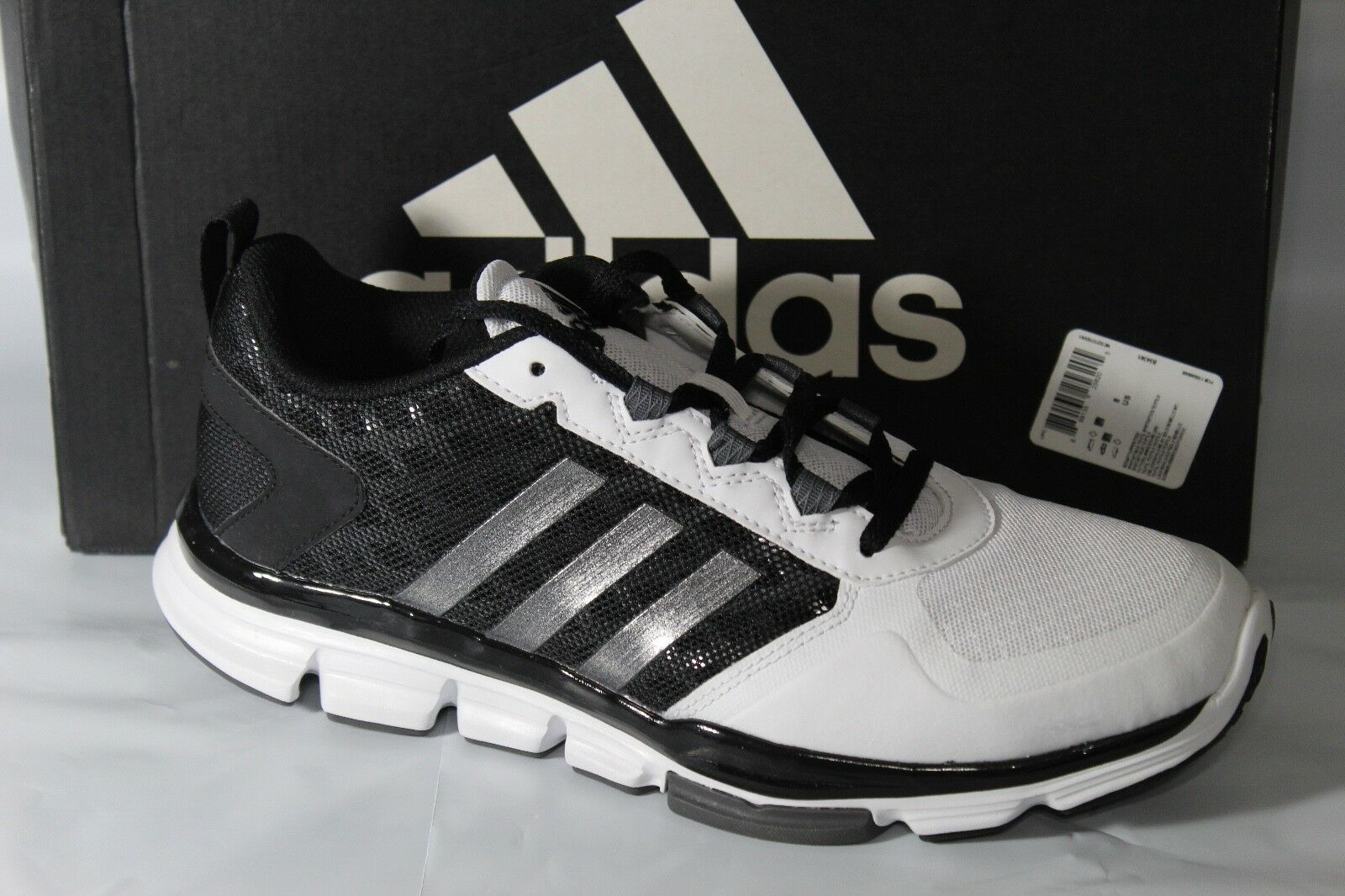 Adidas 2 velocit trainer 2 Adidas scarpe da uomo, volume 8, nero / bianco / argento, b54341 88254b