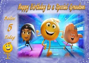 personalised A5 size birthday card Emoji son daughter grandson granddaughter
