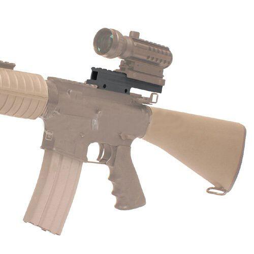 "Nero 0.5/""// 1/"" LOW// HIGH RISER 20mm Weaver Picatinny fucile base//Scope Mount Rail"