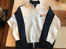 VTG 90s Gray Tag NIKE Full Zip Pull Over Large Track Sweatshirt Shirt 80s