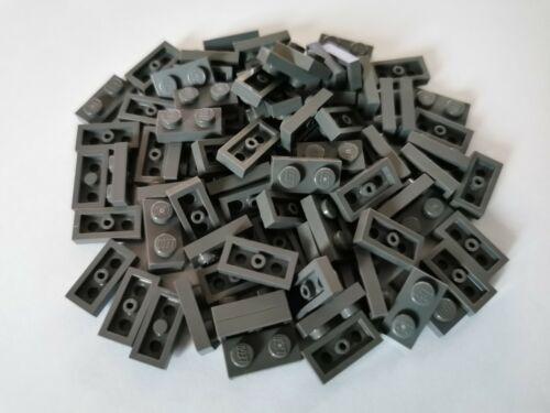 LEGO® Basic 100 Stück Platten Plättchen Plates 1//3 flach dunkelgrau 1x2 #3023