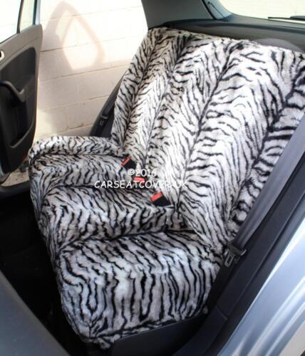 KIA Soul-Gris Tigre Piel Sintética Peludo cubiertas de asiento de coche-Conjunto Completo