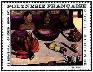 Timbre-Arts-Tableaux-Gauguin-Polynesie-PA25-lot-11851