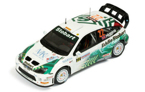 1 43 FORD FOCUS WRC STOBART  22 Rallye Italie Sardaigne 2005 M. Higgins