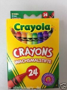Crayola-24-Wax-Crayons-Assorted-Colours-Fast-Delivery-X-2-Packs