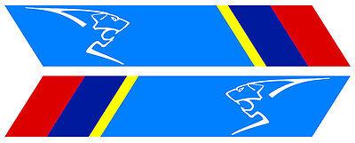 Automobilia Auto, Moto – Pièces, Accessoires Fine 2 X Bandes Pour Peugeot Sport Gti Rallye 25cmx4,5cm Sticker Auto Bb013