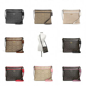 New-Coach-F29960-F29210-Signature-File-Crossbody-Handbag-Authentic