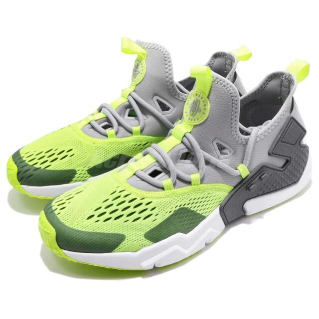 Nike Air Huarache Drift BR Mens Ao1133 001 Wolf Grey Volt