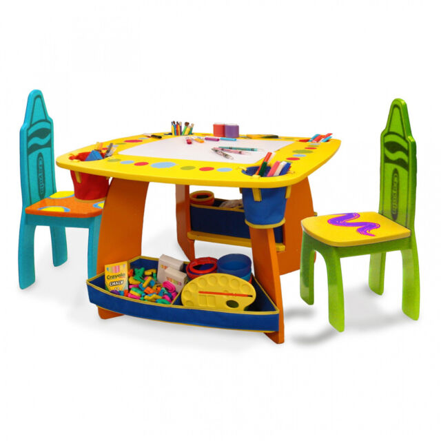 Pleasant Crayola Wooden Table And Chair Set Kids Alphanode Cool Chair Designs And Ideas Alphanodeonline