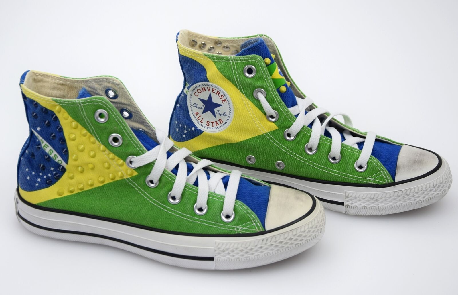 CONVERSE ALL STAR WOMAN CASUAL SNEAKER SHOES BRASIL FLAG CANVAS CODE 1C14SU04