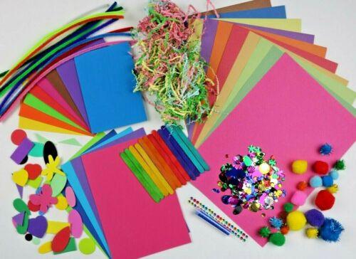 Childrens Art /& Craft Set ~ Kids Art /& Craft Materials ~ Foam Felt Pom Sequin